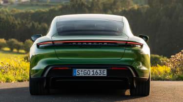 Porsche Taycan Turbo S - full rear