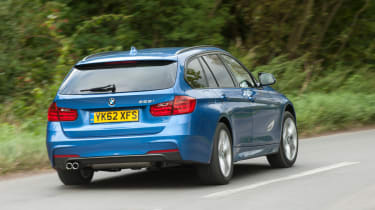 BMW 328i Touring rear cornering