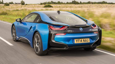 Used BMW i8 - rear action