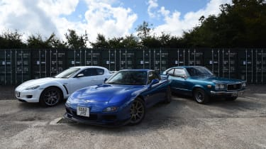 Mazda RX-3, RX-7 and RX-8