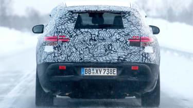Mercedes EQ C spy rear profile
