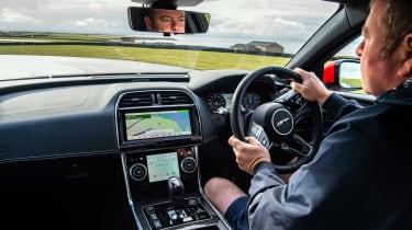 Jaguar XE P300 Long termer - interior driving
