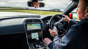 Jaguar XE P300 Long termer - interior driving