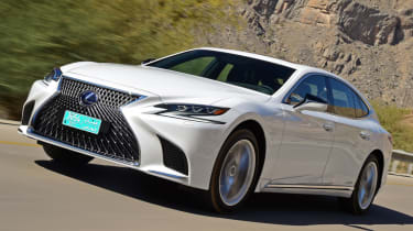 Lexus LS 500h 2018 review - front