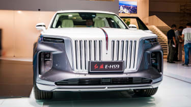 When it came to all out Chinese luxury cars on the Hongqi stand really stood out and the new all electric E-HS9 was the pick of the bunch.