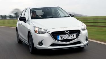 Mazda 2 Sport Black - front cornering