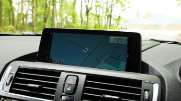 BMW 2 Series Convertible - sat nav screen