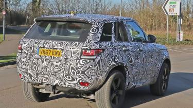 Land Rover Defender test mule rear side