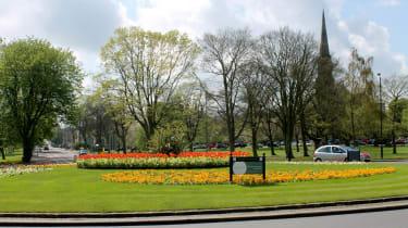 Floral roundabout, Harrogate