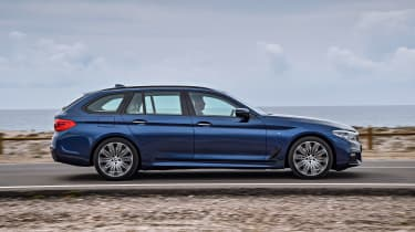 New BMW 5 Series Touring - side action