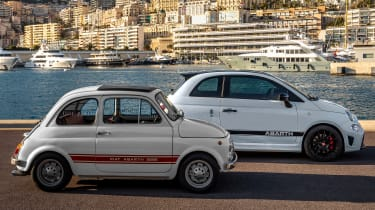 Abarth 595 70th anniversary and classic Abarth 595