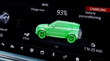 Range Rover Sport P400e - charging details