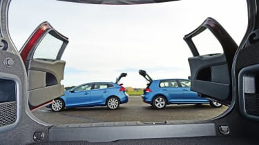 MINI Clubman vs VW Golf vs Volvo V60 - rear view