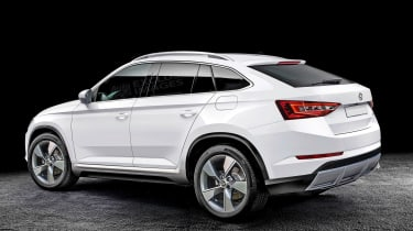 Skoda coupe-SUV rendering - rear