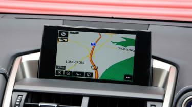 Lexus NX sat nav screen