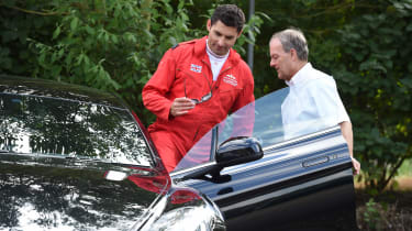 Red Arrows Aston Martin - driving