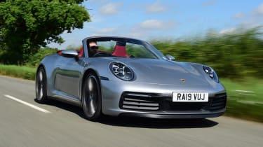 Porsche 911 convertible - front driving