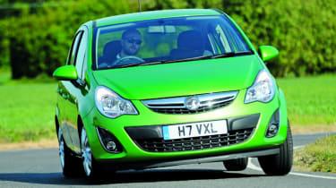 Vauxhall Corsa 1.3CDTi front corner