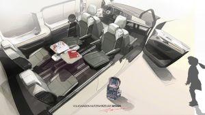 Volkswagen Transporter T7 - interior layout