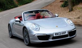 Porsche 911 Carrera 4S Cabriolet front cornering