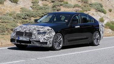 BMW 5 Series facelift - spyshot 10