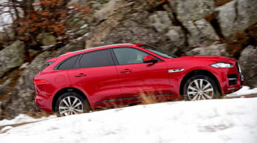Jaguar F-Pace first drive - side tracking