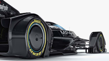 McLaren MP4-X - wheels