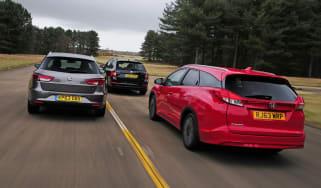 Honda Civic Tourer vs compact estate rivals 1