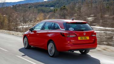 New Vauxhall Astra Sports Tourer - rear trackign 2