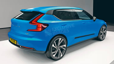 Volvo V40 exclusive images - rear