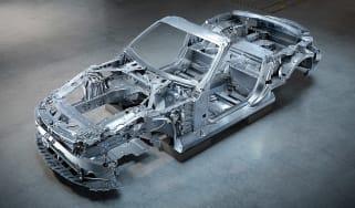 Mercedes SL aluminium chassis