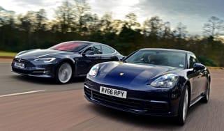 Porsche Panamera vs Tesla Model S - header