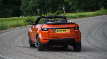 Range Rover Evoque Convertible - rear cornering