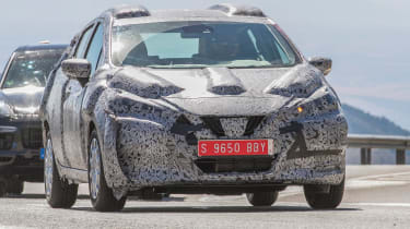 Nissan Micra 2017 spies  front