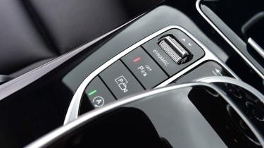 Mercedes C-Class centre console buttons