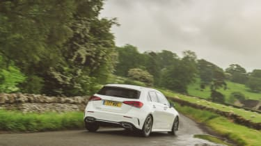 Mercedes A-Class driving rear