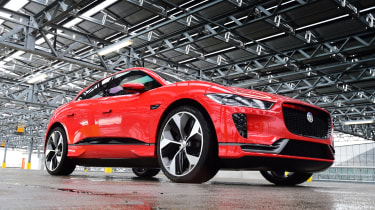 Jaguar I-Pace prototype 2017 - front quarter low