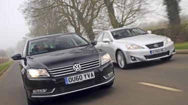 VW Passat vs Lexus IS200d header