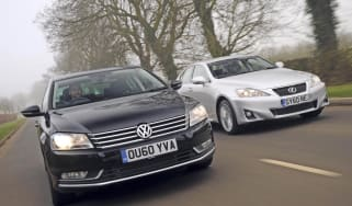 VW Passat vs Lexus IS200d header