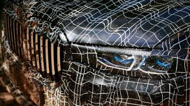 BMW X7 prototype - headlight