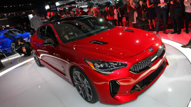 Kia Stinger GT - show front red