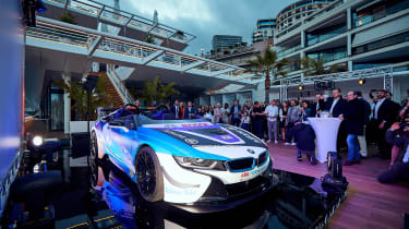 BMW i8 Roadster Formula E safety car - front reveal