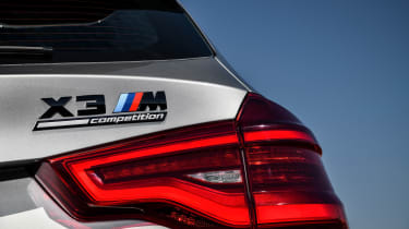 BMW X3 M Competition - rear badge