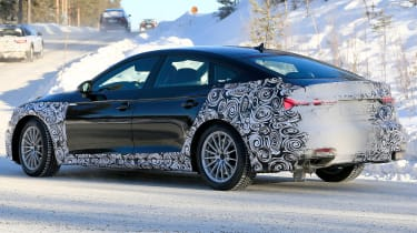 Audi A5 Sportback spies - winter side 3/4
