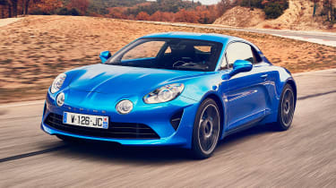 Alpine A110 - front tracking