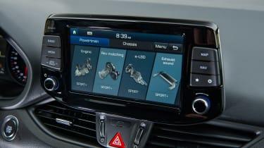 Hyundai i30 N - infotainment screen