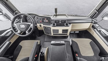 MAN truck interior