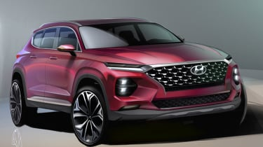 2019 Hyundai Santa Fe rendering - front