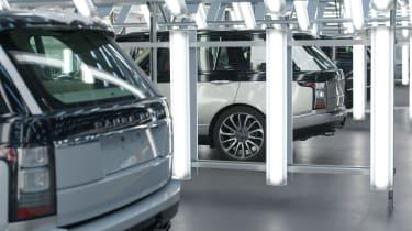 Jaguar Land Rover SVO facility - Range Rovers