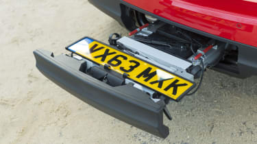 Vauxhall Meriva 2014 facelift - bike rack